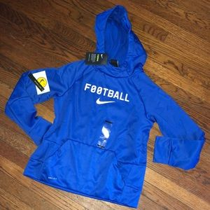 NWT Nike Boys size L 14/16 Blue Football Hoodie